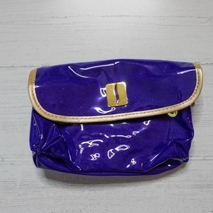 Makeup Travel Bag - Neon Purple Plastic